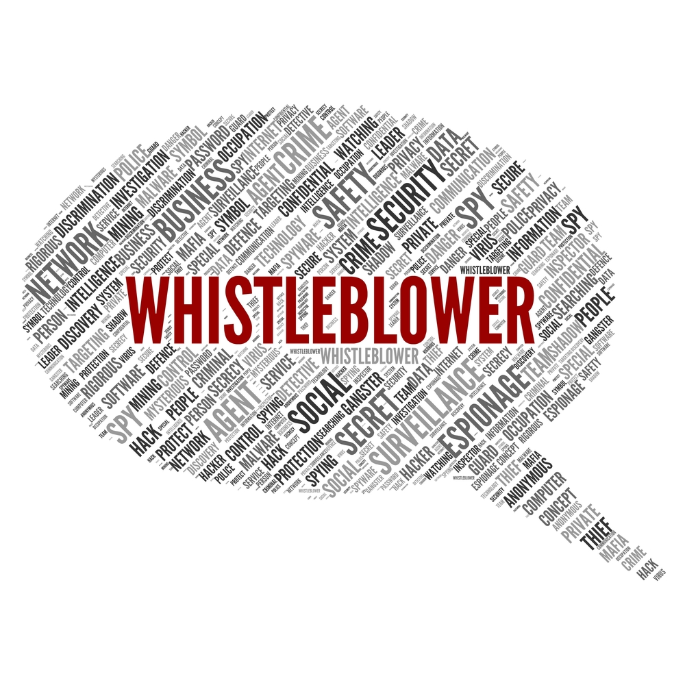 An image of a whistleblower's quote.