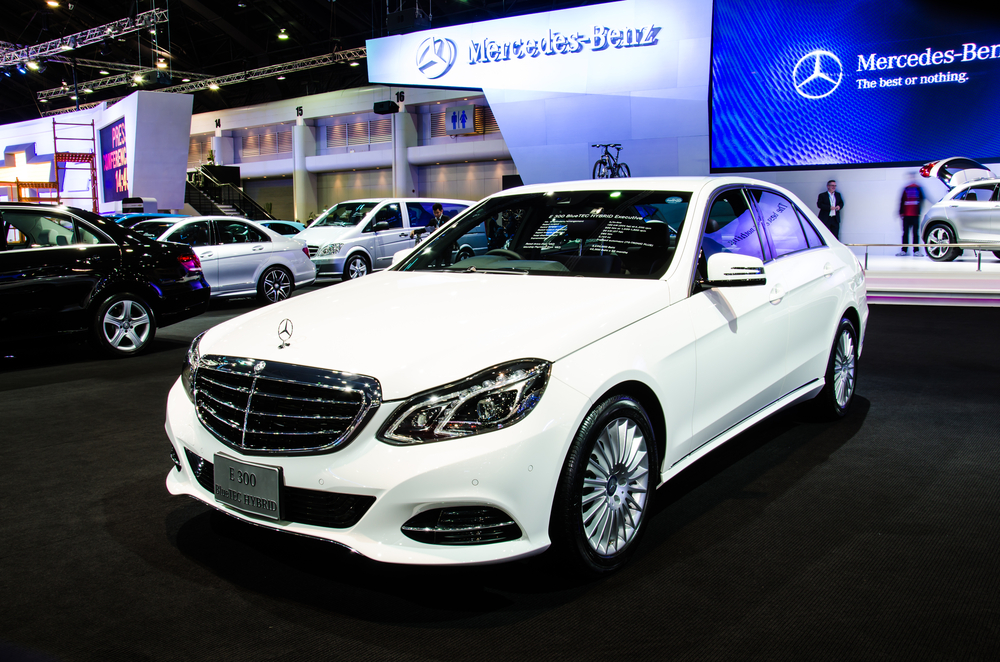 One of Mercedes Benz's hybrid cars.