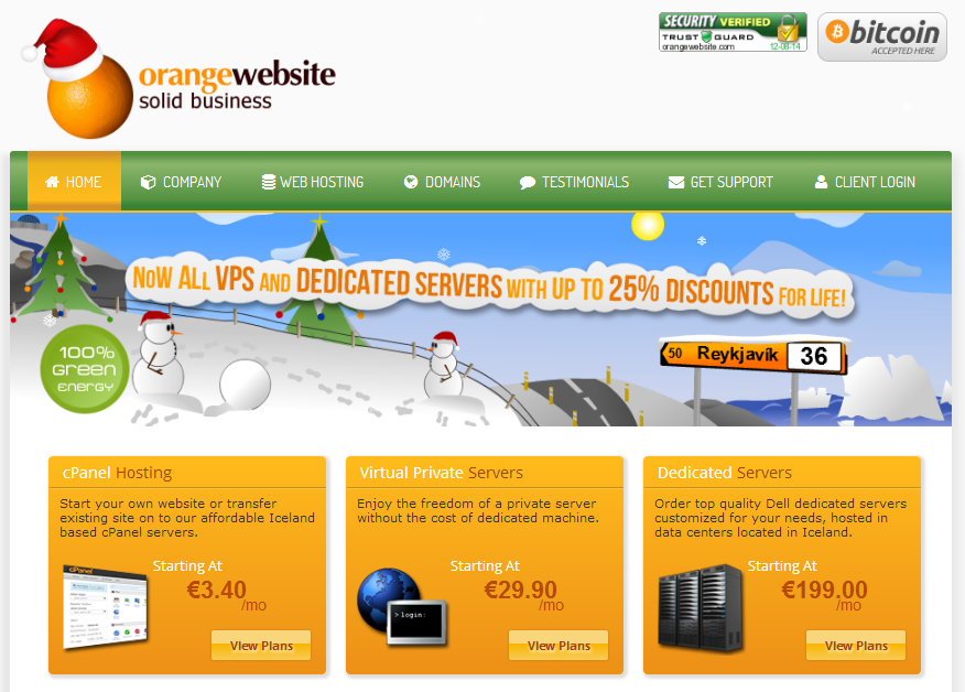 Christmas outlook for orangewebsite.com with snowmen wearing Christmas hats.